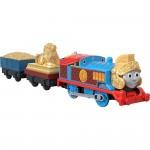 Locomotiva Thomas Roman cu 2 vagoane, Trackmaster, Fisher Price, GDV31