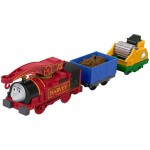 Locomotiva Harvey cu 2 vagoane, Thomas Trackmaster, Fisher Price, FJK53