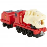 Locomotiva James Dino cu vagon, Thomas Adventures, Fisher Price, DXT45