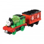 Locomotiva Percy cu vagon, Talking Percy, Thomas Adventures, Fisher Price, DXT93