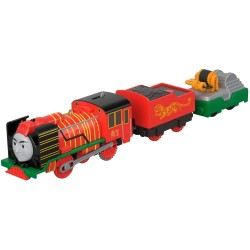 Locomotiva Yong Bao Hero cu 2 vagoane, Thomas Trackmaster, Fisher Price, FJK57