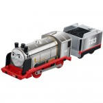 Locomotiva Merlin The Invisible cu vagon, Thomas Trackmaster, Fisher Price, FJK58