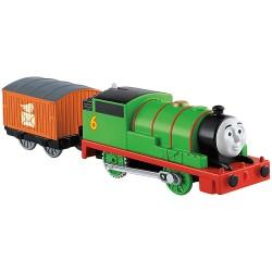 Locomotiva cu vagon Percy, Thomas TrackMaster, Fisher Price, GLL16
