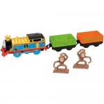 Locomotiva Thomas cu 2 vagoane Monkey Mania, Trackmaster, Fisher Price, FXX55