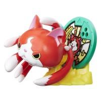 Jibanyan, Figurina cu Medalie, Yo Kai Watch, Hasbro, B7139