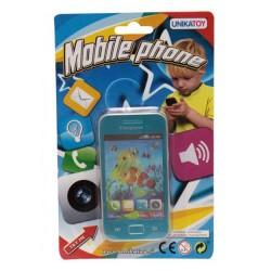 Telefon pentru copii, albastru, UnikaToy, 911966