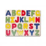 Puzzle, ABC, lemn, 27 piese, Bino, 88045