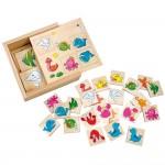 Joc de memorie, Memo Ocean, lemn, 24 piese, Bino, 84168